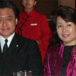 指揮者の小松長生氏と共に(政府主催歓迎レセプションにて)